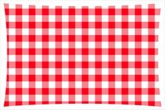 Красная & белая checkered ткань кухонного стола бесплатная иллюстрация