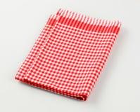 красная белизна полотенца чая Стоковое Изображение