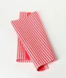 красная белизна полотенца чая Стоковые Изображения