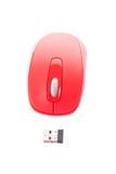 Красная бесшнуровая мышь для ПК Стоковое Изображение RF