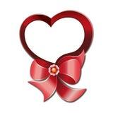 Красная бирка сердца Стоковое Изображение RF
