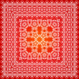 Красная богато украшенная картина шали Стоковое Изображение