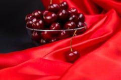 Красная большая вишня Стоковое Изображение