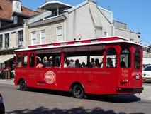Красная вагонетка в Кингстоне Стоковые Изображения