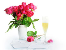 красная ваза роз Стоковая Фотография RF