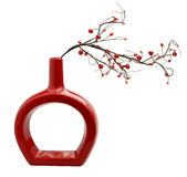 красная ваза Стоковое фото RF