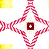 Красная веревочка и швейцарский крест иллюстрация штока