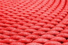 Красная веревочка - на высокорослом корабле в Глазго Стоковое Фото