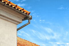 красная верхняя часть крыши Стоковое Фото