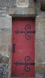 Красная дверь замка Стоковое Изображение RF