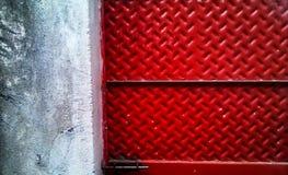 Красная дверь листа Стоковое фото RF