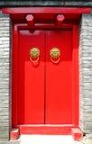 красная дверь Стоковое Изображение