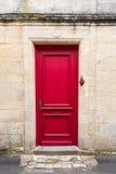 Красная дверь Стоковые Изображения RF