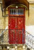 Красная дверь Стоковая Фотография