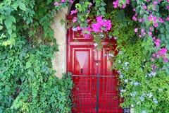 Красная дверь Стоковое Фото