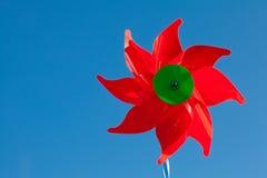 красная ветрянка игрушки Стоковые Фотографии RF