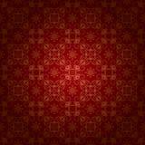 Красная винтажная предпосылка с орнаментом золота иллюстрация штока