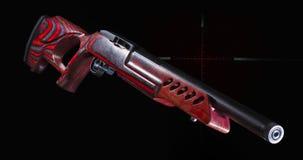 Красная винтовка цели с перекрестием стоковое фото rf