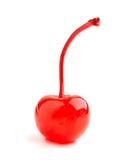 Красная вишня коктеиля изолированная на белизне Стоковая Фотография