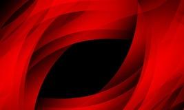 Красная волна на черной предпосылке со световым эффектом, ровным, кривой, иллюстрации вектора иллюстрация штока