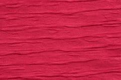 Красная волна предпосылки ткани как конец-вверх Стоковые Фото