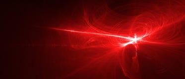 Красная волна энергии зарева Стоковая Фотография