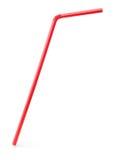 Красная выпивая солома коктеиля Стоковые Фотографии RF