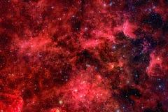 Красная галактика Элементы этого изображения поставленные NASA стоковое фото