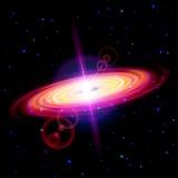 Красная галактика иллюстрация вектора