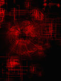 Красная геометрическая решетка линий бесплатная иллюстрация