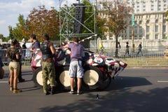 Красная гонка Soapbox Bull Стоковая Фотография