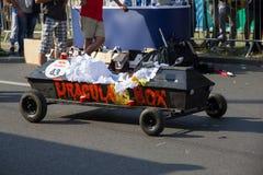 Красная гонка Soapbox Bull Стоковые Фотографии RF