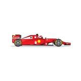 Красная гоночная машина изолированная на белой предпосылке также вектор иллюстрации притяжки corel Стоковое Изображение RF