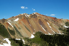 Красная гора Стоковое фото RF