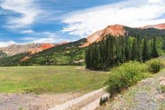 Красная гора Стоковое Изображение
