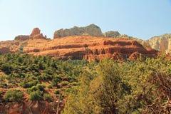 Красная горная порода в Sedona Аризоне стоковые изображения