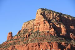 Красная горная порода в Sedona Аризоне стоковое фото