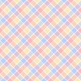 Красная голубая и желтая checkered красочная безшовная картина, вектор иллюстрация вектора