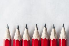 Красная граница карандаша Стоковые Изображения RF