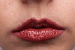 Красная губная помада стоковые изображения