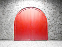 Красная дверь свода Стоковая Фотография