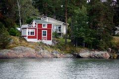 Красная дом тимберса Стоковое Изображение RF