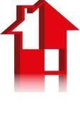 Красная дом Стоковая Фотография RF