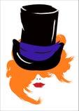 Красная девушка Стоковое Изображение RF