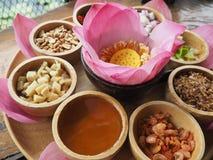 Красная еда лотоса стоковое изображение