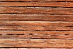 Красная деревянная предпосылка Стоковые Фотографии RF