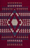 Красная естественная текстура шерстей с картиной для предпосылки Селективный фокус стоковая фотография