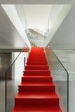 красная лестница Стоковая Фотография RF