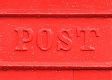 Красная деталь коробки столба Стоковое Изображение