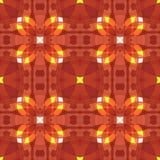 Красная желтая современная абстрактная текстура Безшовная плитка Детальная иллюстрация предпосылки Домашний образец дизайна ткани Стоковое фото RF